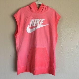 Nike Sleeveless hoodie size Large